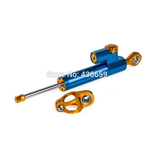 Iris-Shop - Blue CNC Steering Damper Stabilizer For Yamaha YZF-R1 R6 R6S FZ1 FZ6S FZ6 FAZER Adjustable Motorcycle Accessories