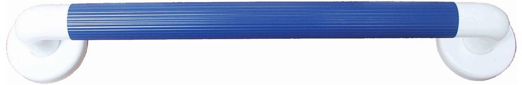 President 450mm long grab bar ideal for volume use featuring ribbed grips and cover caps finished in blue to aid the partially sighted by THE TECH LODGE
