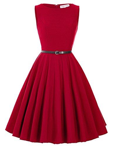 Women 1950s Vintage Swing Dresses