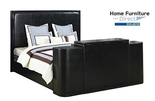 Miles Black Cal King Bed with TV Lift (Lifts Tv Bedroom)