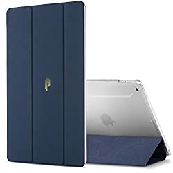Poetic Slimline New iPad 9.7 Inch 2017 Case Slim-Fit Trifold Cover Stand Folio Case for Apple iPad 9.7 (2017 MARCH Released) Navy Blue