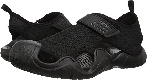 Crocs Men's Swiftwater Sandal M Flat black/black, 10 M US