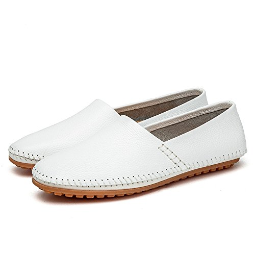 formali eventi mocassino elegante comodo slip Da driving Microfibra PU uomo UK pelle in party 5 Pure casual 5 barca Fashion Minimalism unico design Blue anche o color per White on mocassini scarpe gaBWtzgwq
