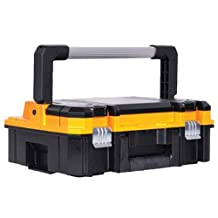 DEWALT DWST17808 Metal Latch Case With Long Handle and Top Organizer