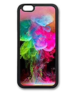 iCustomonline Trippy Smoke Black rubber Back Case for iPhone 6( 4.7 inch)