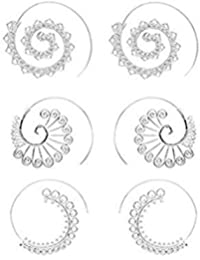 Spiral Hoop Earrings Set Vintage Tribal Swirl Earrings For Women 3 Pairs/Set