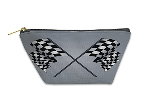 Gear New Accessory Zipper Pouch, Checkered Flag, Large, 3369800GN