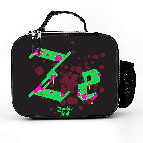 Welkoom Lunch Bag Insulated Lunch Box - Tough & Spacious Adult Lunchbox To Seize Your Day (Acid Zombie Gothic Font - Lunch Bags For Men, Adults, Women) ()