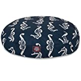 Majestic Pet Navy Sea Horse Large Round Indoor Outdoor Pet Dog Bed With Removable Washable Cover By Products