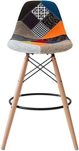 2xhome Eiffel Style Upholstered Modern Mid Century Armless