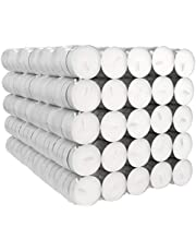 Amazon Basics 400-Pack Unscented Tealight Candles - 4 Hour Burn Time - White