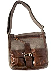 Single Buckle Tweed Satchel