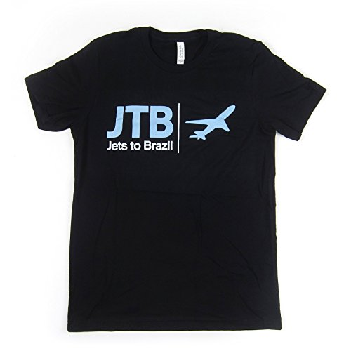 Jets To Brazil Men's Airplane Tee T-Shirt Medium (Brazil Airplane)