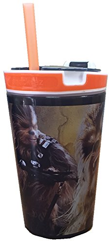 Star Wars 7 Snackeez Jr. - Chewbacca (Black Cup w/ Orange Rim)