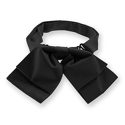 TieMart Black Floppy Bow Tie