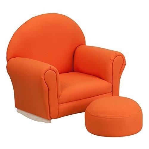 Flash Furniture Kids Orange Fabric Rocker Chair and Footrest by Flash Furniture