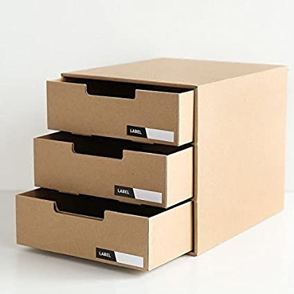 Completely new Amazon.com : VIPASNAM-Desk Cardboard Stationery File Paper Box  UW36