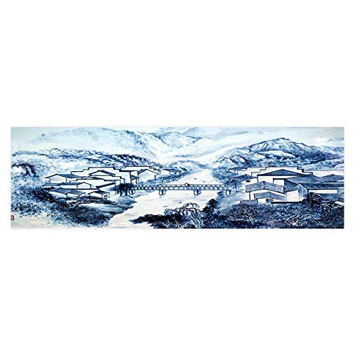 (Leighhome Decorative Aquarium Background Chinese Porcelain Images Decal Sticker Home Decor Art L29.5 x H21.6)