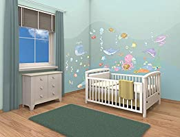 Walltastic Baby Under the Sea Room Decor Kit
