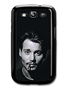 Johnny Depp Black & White Smoking case for Samsung Galaxy S3 A1623 by mcsharks