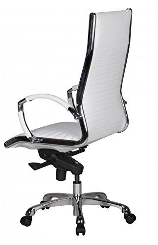 Schreibtischstuhl weiß leder  Design Bürostuhl Echt Leder Weiß | Schreibtischstuhl mit Armlehnen ...