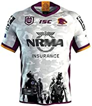 2019 Brisbane Broncos Legion Special Commemorative Rugby Jersey Embroidered Sportswear Polo Shirt for Men, Whi