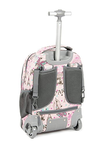Tilami New Antifouling Design 18 Inch Wheeled Rolling Backpack Luggage and Lunch Bag by Tilami (Image #1)