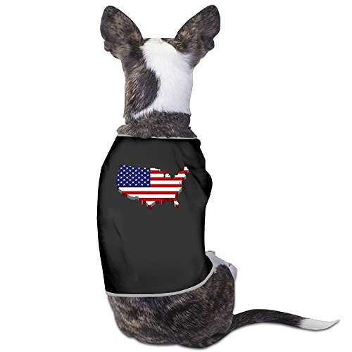 American Flag Map New Fashion CuteDogs Shirt Dress Plain Sleeveless Anxiety Calming Wrap Best Holiday Gift M - Boston Map Shopping