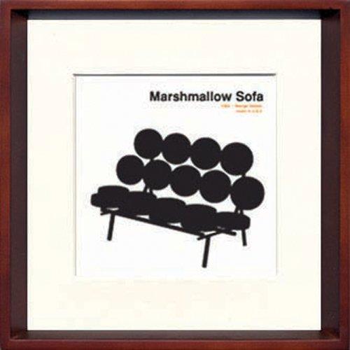 JIG アートポスター モダン デザインスタジオ Marshmallow Sofa ITY-14285 B00P7BI1LC