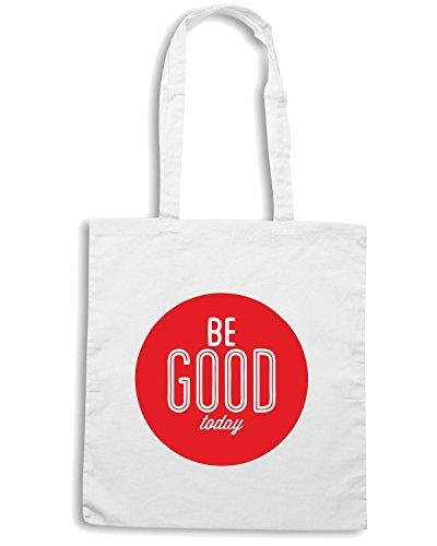 T-Shirtshock - Bolsa para la compra CIT0041 be good today Blanco
