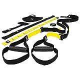 Pro Hanson Trx Resistance Band - Suspension Training Home Gym - Black/Yellow - Original