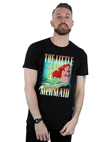 Disney Men's The Little Mermaid Ariel Montage T-Shirt Black X-Large