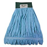 Boardwalk Microfiber Looped-End Wet Mop Heads, Large, Blue, 12/Carton
