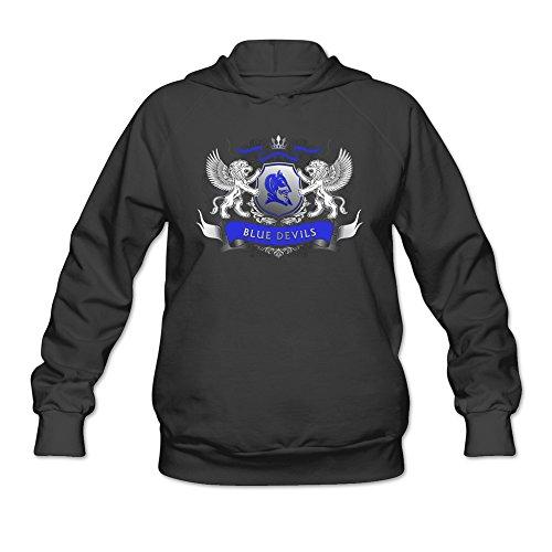 Lydc Women's Duke Blue Devils Cool Logo Icon Champion Hoodie Sweatshirt Black M (Champion Cheer Shoes compare prices)