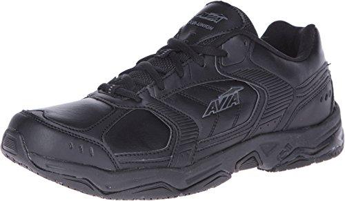 AVIA Men's Union Service Shoe, Black/Iron Grey, 13 M US