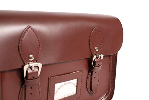 """15""""vino rojo funda de piel Oxbridge Satchel in-new RL15vino rojo–moda retro mochila escolar–en caja"""