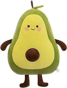 Effacera Christmas Stuff Avocado Plush Toys ,13 Inch Soft Novelty Food Shaped Throw Pillow, Cute Fruit Stuffed Doll is Gift for Girl Boy Friend