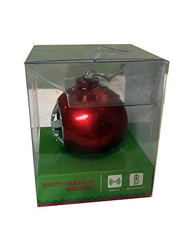Bluetooth Jingle Balls Wireless Speaker Snow Flake Rechargable - Red