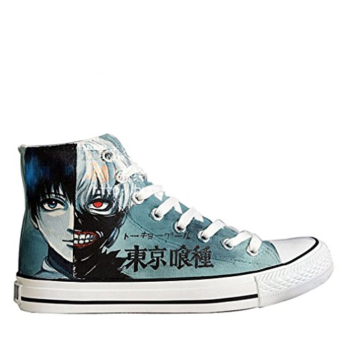 Bromeo Tokyo Ghoul Unisexe Toile Salut-Top Sneaker Baskets Mode Plus Velvet Chaussures