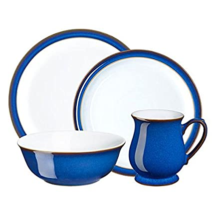 Denby 16 Piece Imperial Blue Dinnerware Set Royal Blue  sc 1 st  Amazon.com & Amazon.com: Denby 16 Piece Imperial Blue Dinnerware Set Royal Blue ...