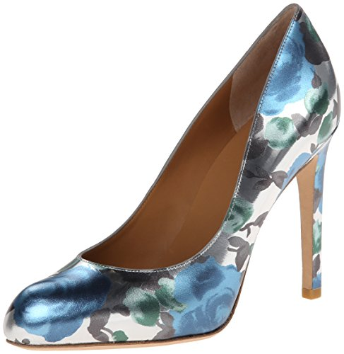Marc By By Jacobs Womens Floral Dress Pump Blue Sky Multi