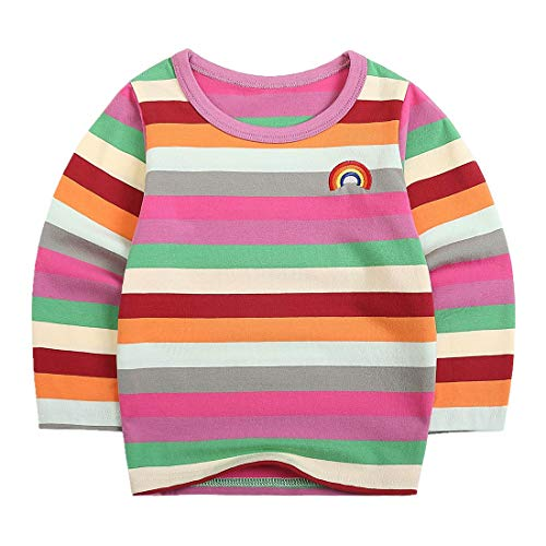 35603399 Sooxiwood Little Boys T-Shirt Rainbow Striped O-Neck: Amazon.ca: Clothing &  Accessories