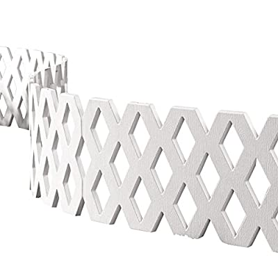 Lattice Fence Garden Border Set - 4 Pc