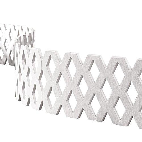 Lattice Edging (Lattice Fence Garden Border Set - 4 Pc, White)