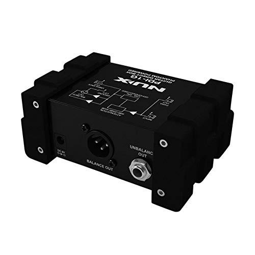 HermosaUKnight Mezclador de Audio NUX PDI-1G 2DI Box de inyección ...