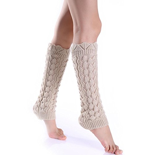 Oksale Women Winter Warm Crochet Knitted Boot Cover Cuffs Leg Warmers (Cable Girl Costume)