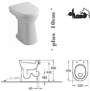Haro Toilet Seat Keramag Allia Paris Total Care Standflachspül ...