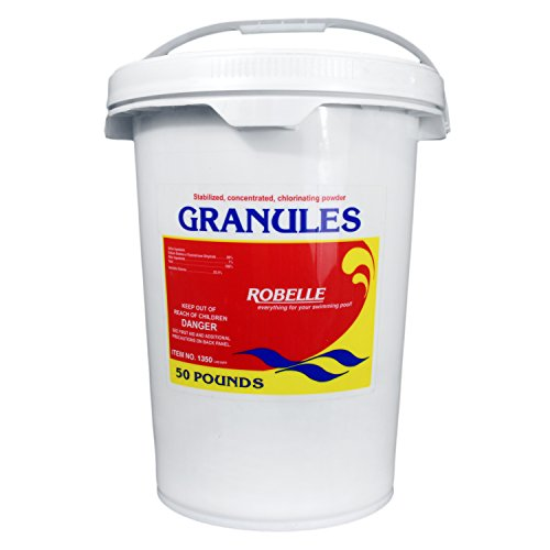 (Robelle 1350 Stabilized Concentrated Chlorinating Powder Granules, 50 lb)