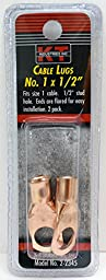 K-T Industries 2-2345 Cable Lug Size 1 by 0.5, 2-pack