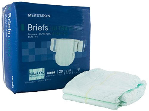 McKesson BRSTRBAR Baby Diaper, Toddler Training Pants and Youth Absorbent Underwear, 3X-Large  (Pack of 80)